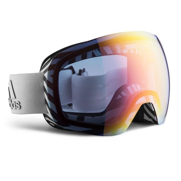 Bronceado cuello Intuición  Adidas Backland Spherical AD86 white matt / light red mirror / Skibrille -  Brillenland.de
